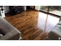 High quality laminate floor approx 12 m2