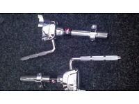 2 Gibraltar drum rack 12.7mm L-rod tom armS