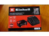 Einhell Power X-Change 18V 4.0AH battery + Charger unit