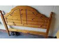 3/4 size bed (almost double) with mattress & wooden Headboard