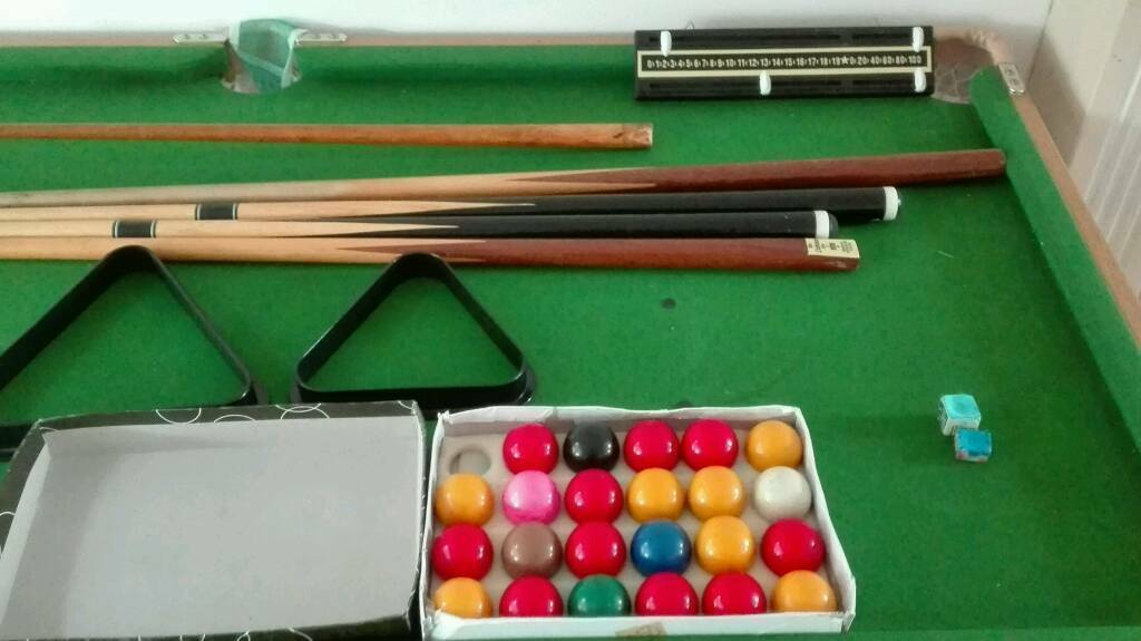 Child Size Snooker/pool Table. Image 1 Of 3