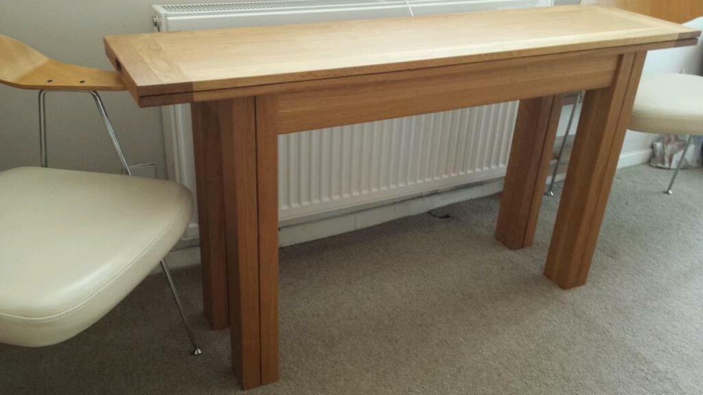 Amazing *sold*sold* Laura Ashley Brompton Oak Console Table (extends To Dining Table