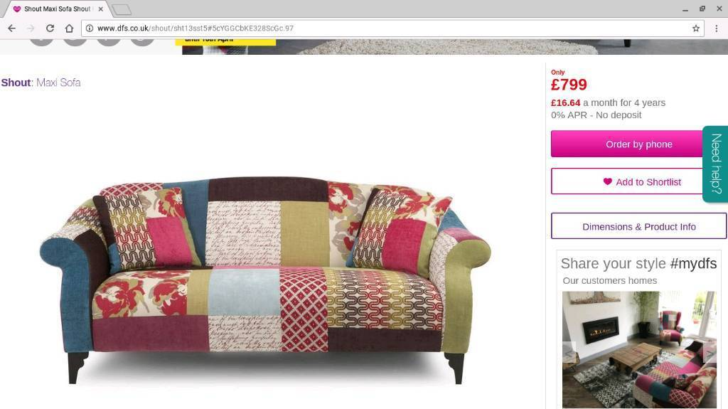 Dfs Patchwork Sofa And One Wingback Armchair 7z32q1iu