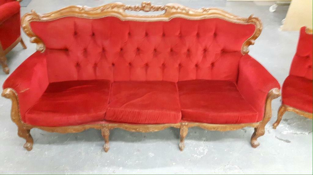 Vintage French, Louis Style Sofa,armchair U0026 Chair