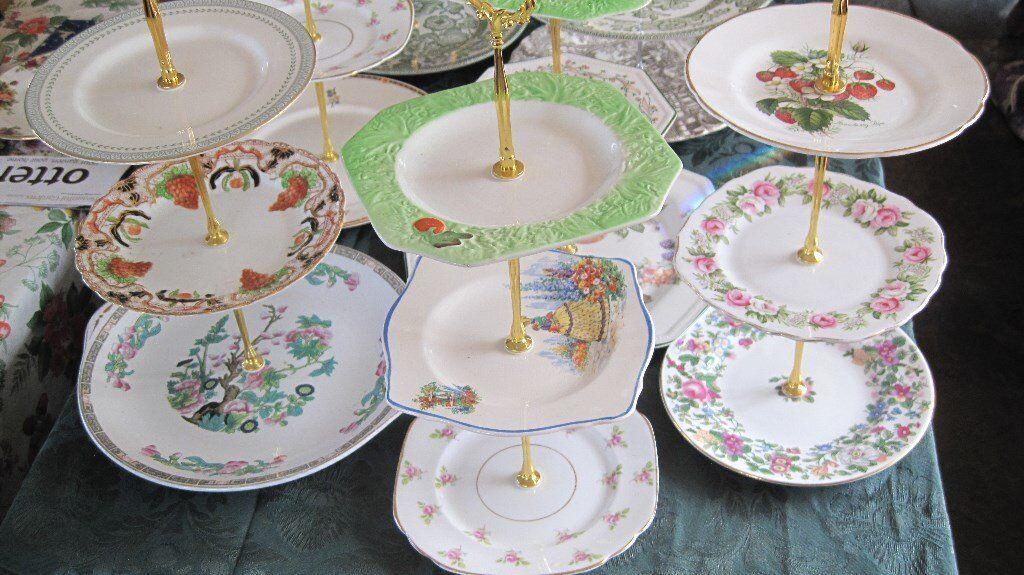 China cake plate stand trios lovely designs | in Honiton Devon | Gumtree & China cake plate stand trios lovely designs | in Honiton Devon ...