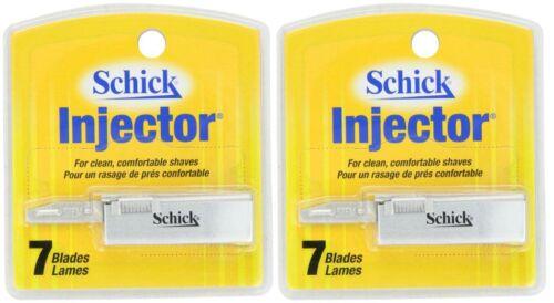 Schick Injector Single Edge Razor Blades - 7 Blades (2 Pack)