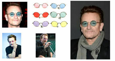Bono Red Sunglasses (BONO CONCERT SUNGLASSES blue pink purple green red yellow )
