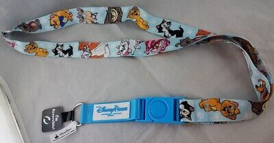 Reversible Lanyard - Disney Parks Dogs Cats Characters Pluto Figaro Si Am +++ Reversible Lanyard NEW