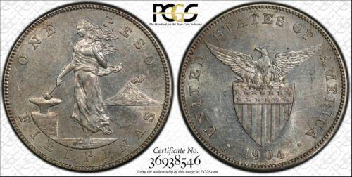 US PHILIPPINES ONE PESO 1904-S PCGS MS 61