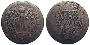 Stato-Pontificio-Benedetto-XIV-Mezzo-Baiocco-Ferrara-Anno-X-034-BAIOCO-034-al-R