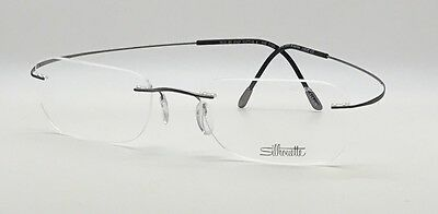 Silhouette TITAN 7612 60 6107 Titanium Rimless Designer Glasses Frames Mens New