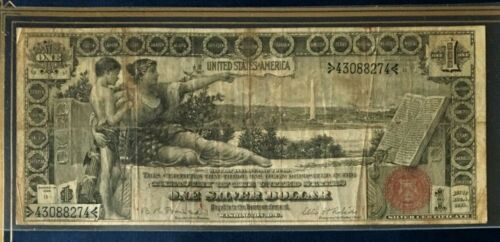 "1896 $1 DOLLAR EDUCATIONAL LARGE US SILVER CERTIFICATE, NICE, DON""T MISS"