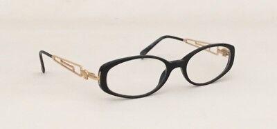 Versace Women Eyeglasses Black W/ Gold Accents Medusa