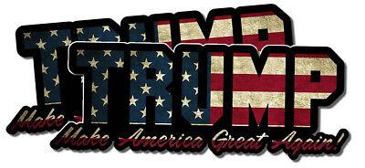 "TWO Donald Trump Make America Great Again Bumper Sticker Decal 7"" T Cartoon #2"