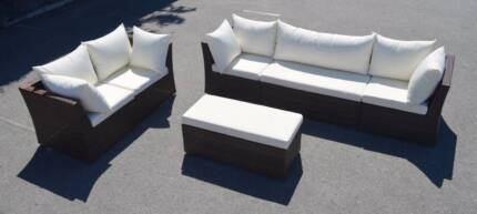 FLORENCE OUTDOOR SECTIONAL LOUNGE SET   WICKER