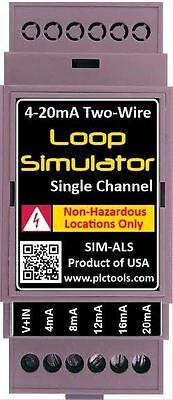 Analog Current Simulator Generator And Tester 4-20ma Din Rail Mountable