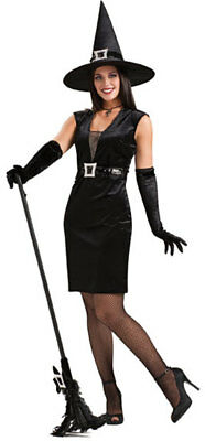 Sexy Cocktail Hour Witch Adult Halloween Costume Party Outfit Womens One Size  (Cocktail Halloween Costumes)