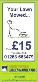 North Norfolk Garden Maintenance - Lawn Mows from £15 now!