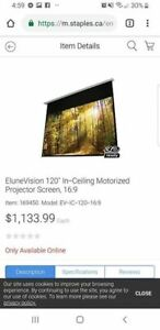 NEW PRICE! Elunevision 120' 1.3 Gain 4k Silver Motorized Project
