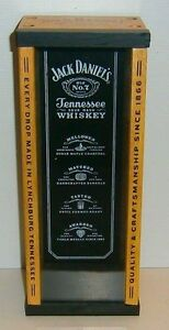 Jack Daniels brand new wooden display coffin bottle box with perspex front
