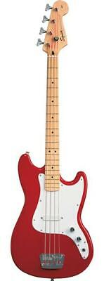 Fender Squier 0310902558 Bronco Bass 4 String Electric Bass Guitar, Torino Red