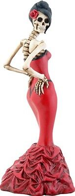 New! Day Of The Dead Ballroom Girl Red Dress Figurine Dod Collectible 8172
