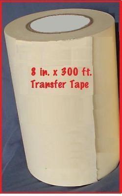 8 Application Transfer Paper Tape 300 Ft. Roll For Vinyl Cutter Plotter Fresh