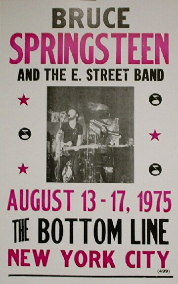 """Bruce Springsteen & The E. Street Band Concert Poster 1975 New York City 14""""x22"""""""