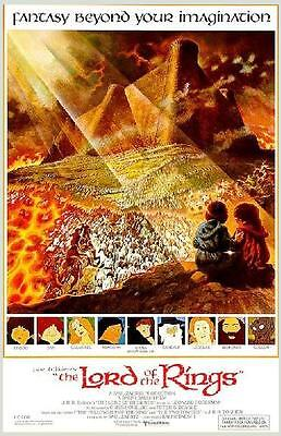 ANIMATED LORD OF THE RINGS ~ MOVIE POSTER ~ RARE ~ BRAND NEW