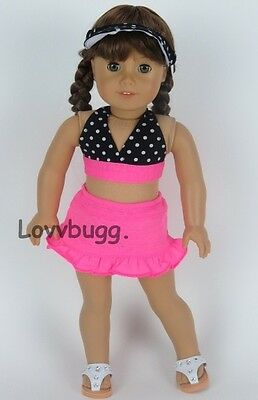 "4 pc Swim Suit Set for 18"" American Girl Doll Clothes"