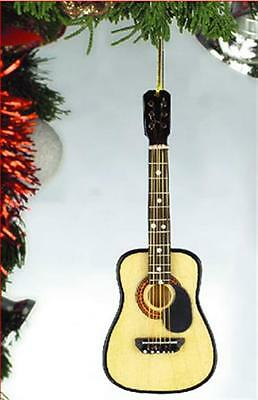 ACOUSTIC GUITAR w/PICKGUARD MUSICAL INSTRUMENT CHRISTMAS ORNAMENT GIFT BOXED N12 - Guitar Ornaments