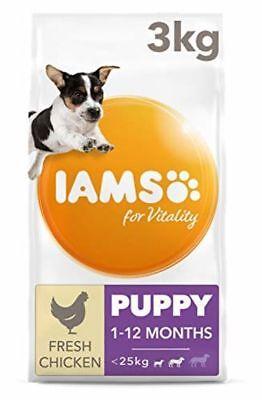 Iams Puppy/Junior Dog Food Small/Medium Breed Chicken 3kg