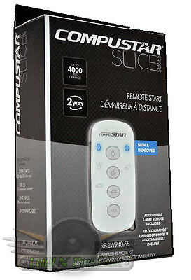 New Compustar RF-2W940-SS 2-Way LED Remote Kit with 4000' Range SLICE Series