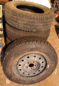 Used Winter Tires on Rims Cornwall Ontario image 1