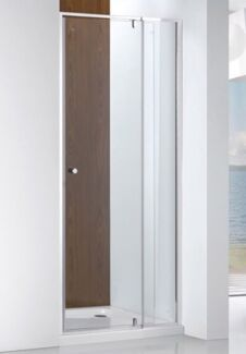 Adjustable shower screen pivot door