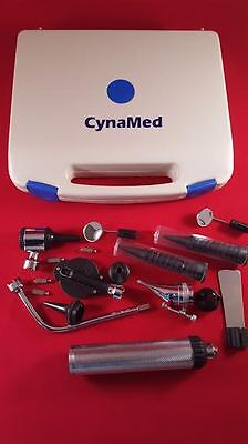 Professional Ent Ophthalmoscope Otoscope Nasal Diagnostic Set Kit 4 Extra Bulb