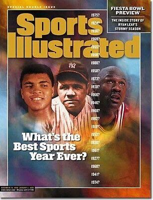 December 28, 1998 Muhammad Ali Michael Jordan SPORTS ILLUSTRATED NO LABEL