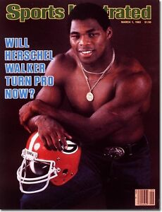 March 1, 1982 Herschel Walker, University of Georgia Sports Illustrated A