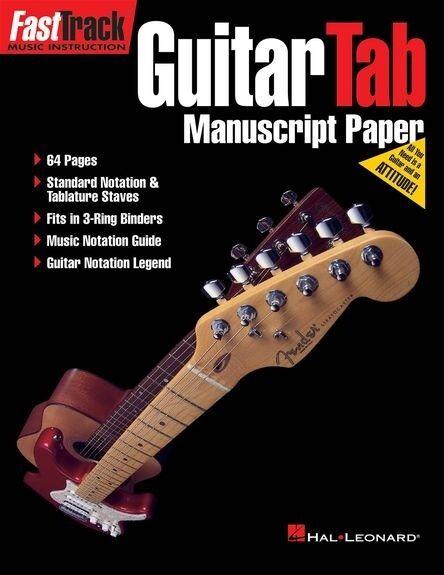 FastTrack Guitar Tab Manuscript Paper, FMW - HL00210115