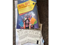 Alton towers tickets 30/09