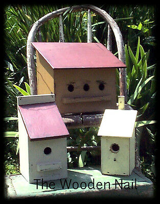 Primitive Birdhouse 3 different sizes PATTERN/PLAN WN108