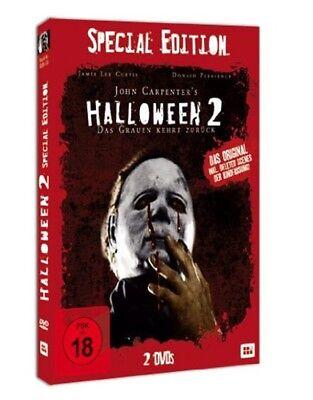 HALLOWEEN 2 II - DAS GRAUEN KEHRT ZURÜCK 2 DVD Box Special Schuber Edition NEU
