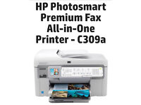 HP Photosmart Premium All In One Fax Photo Printer Copier Scanner Wireless Office C309 Series