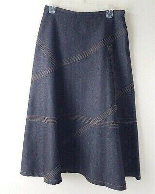 APRAISAL Modest Midi Denim Jean Skirt 6 10 EUC Modest A-line Full