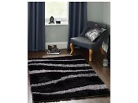 Silver and Black rug large dunhelm