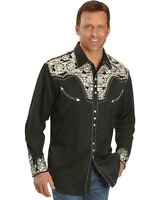 SCULLY FLORAL EMBROIDERED RETRO SHIRT