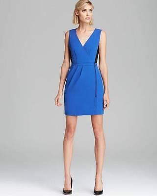 Marc Jacobs Zipher Blue Black Anya Crepe S/L Dress $348 NWT 2