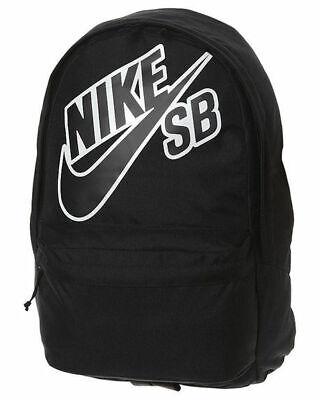 NIKE SB PIEDMONT BACKPACK - NIKE SKATEBOARDING BLACK BAG 26 LITRES BA3275 *NEW*