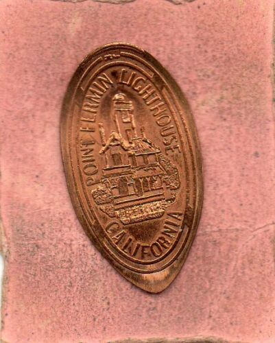 Point Fermin   Lighthouse  Calforina Elongated Penny