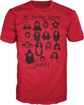 THE HOBBIT: AN UNEXPECTED JOURNEY ~ LICENSED T-SHIRT ~ RED ~ M / L ~ TOLKIEN NEW